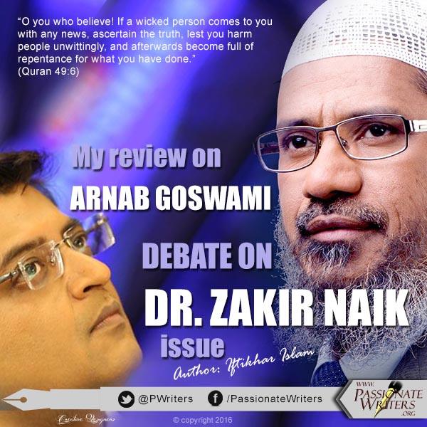 Arnab Goswami Dr. Zakir Naik debate on Times Now